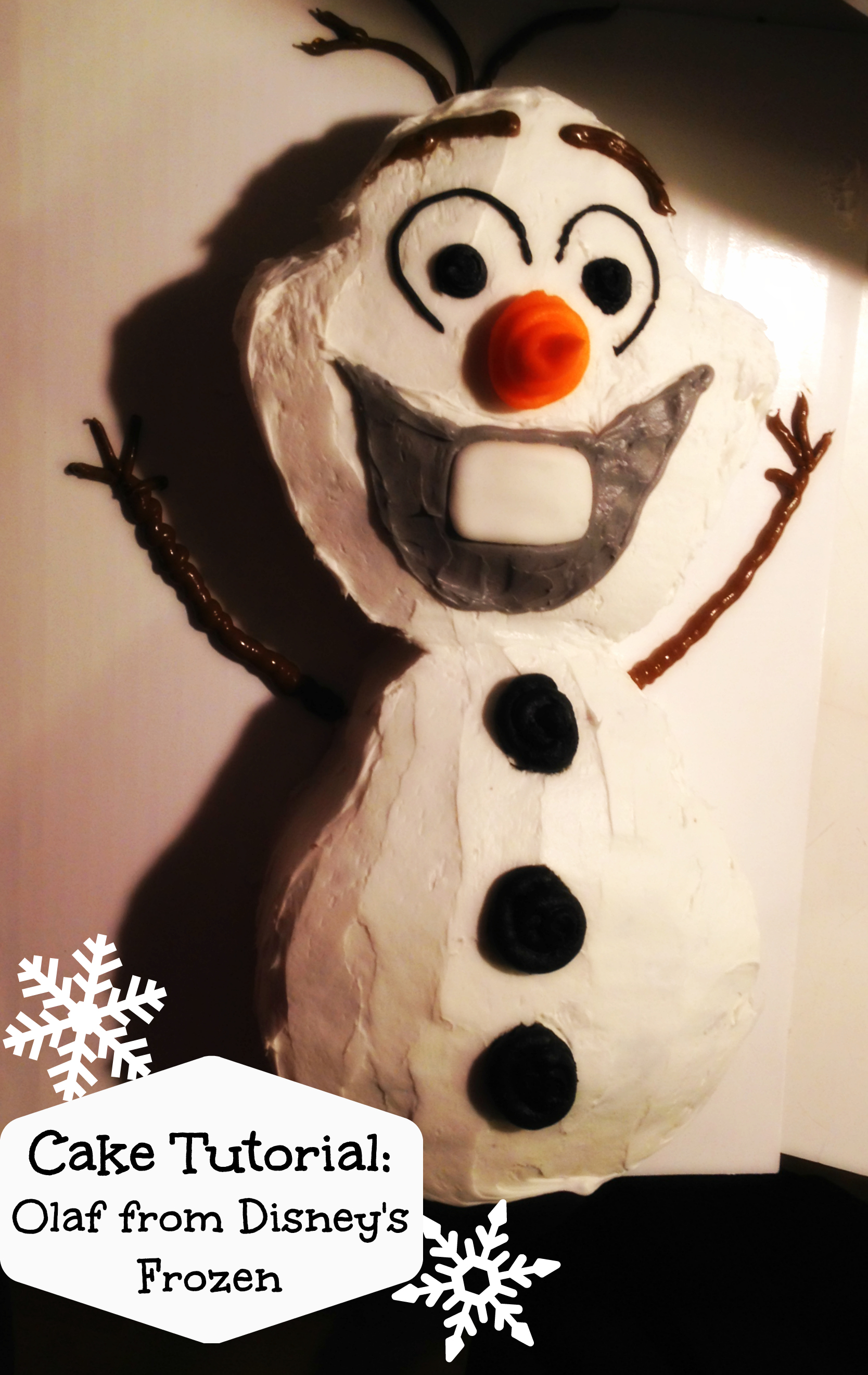 Cake tutorial olaf from disney s frozen life love and the